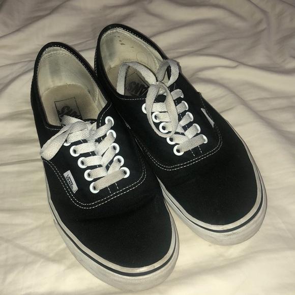 Vans Shoes | Black Authentic Vans Size